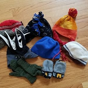 Huge Lot Gap Ski Hats Skull Fair Isle Gloves Fleec